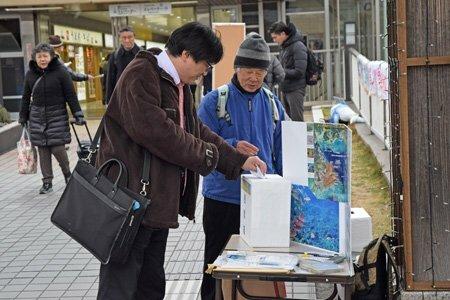 沖縄県民投票に合わせて始まった「滋賀市民投票」(滋賀県草津市渋川1丁目)