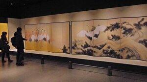 堂本印象の「松楓和鶴」など花鳥風月をテーマに集められた作品が紹介されている京都市美術館所蔵品展(京都市下京区・美術館「えき」KYOTO)