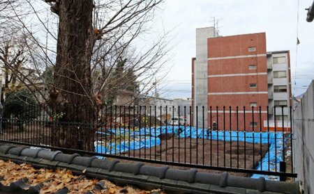 幼稚園の移転新築に向けて取り壊されたフレンドピースハウスの跡地(京都市上京区)