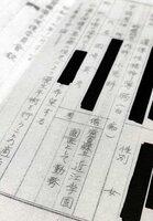 近江学園の男性医師が1952年、少女1人に強制不妊手術をするよう申請した記録。学園の文書庫から見つかった