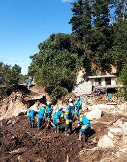 【台風19号】ゴムボートで10人救助 宮城での活動を報告 滋賀県警