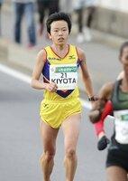 静岡から出場する清田。さいたま国際マラソンは5位だった(2018年12月、さいたま市)
