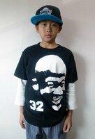 京都ハンナリーズの外国人選手の顔をあしらたティーヘッドのTシャツ