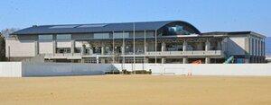 愛称が「YMITアリーナ」に決まった市民体育館(草津市野村3丁目)