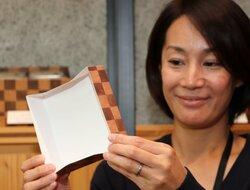 バームクーヘンの包装を紙製に 滋賀の菓子会社、プラスチック製から