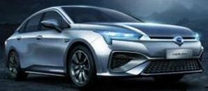 日本電産のトラクションモーターを採用した広汽新能源汽車の電気自動車「Aion S」