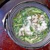 壬生菜と九条ねぎ、牛肉の小鍋