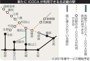 新たにICOCA(イコカ)が利用できる北近畿の駅