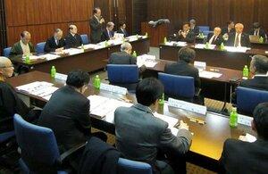 国際博物館会議(ICOM)京都大会の組織委員会であいさつする佐々木丞平委員長(京都市下京区)