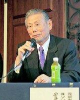 京都市内で開かれたビッグデータのセミナーでAIの活用について講演するジルファルコンテクノロジージャパンの西口代表取締役(京都市上京区のホテル)