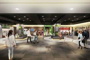 京都駅前地下街ポルタ西端の「よりみちスクエア」の改装イメージ