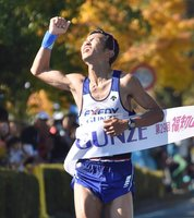 登録の部男子で初優勝の瀬尾(福知山市・三段池公園)