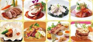 「シェフの饗宴」で各ホテルが提供する料理のイメージ写真