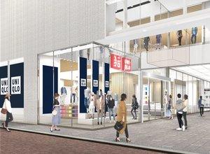 22日にリニューアルオープンする「ユニクロ 京都河原町店」のイメージ図