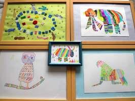 鮮やかな色使いや独創的な発想力が光る静香さんの作品