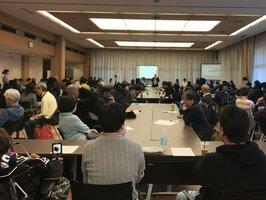 終末期医療を規定する法制化の動きを懸念する緊急集会(2018年11月、東京都千代田区・憲政記念館)