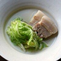 白菜と塩豚のクリアスープ