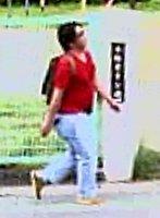 事件3日前に京都アニメーション本社近くで撮影された青葉容疑者とみられる男の映像(京都府宇治市)