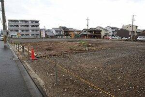 更地になった川井家住宅跡。市が保存活用に向けてマッチングを行ったが、不成立に終わった(京都市中京区)