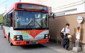 与謝野町から通学する生徒たちが利用する丹海バスの福知山線(福知山市篠尾・京都共栄学園前)
