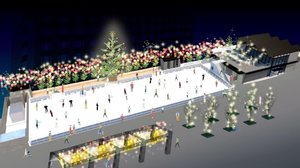 梅小路公園にオープンする野外スケート場のイメージ(ビバ提供)