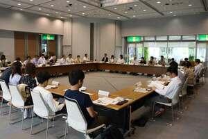 市内の事業者が一堂に会した「亀岡アグリツーリズム振興協議会」の設立総会(亀岡市安町・市役所)