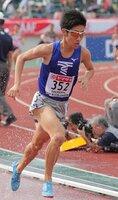 昨年の日本選手権3000メートル障害で4位に入った東海大の阪口(2018年6月、山口市)