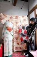 「昭和のきもの愛好会」が保存する昭和30~50年代に流行した着物(京都市東山区)