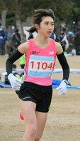 陸連登録女子6キロで優勝した田中(希望が丘文化公園)