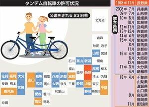 タンデム自転車の許可状況