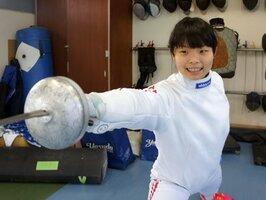 全日本選手権女子エペで準優勝した乙訓高の寺山(乙訓高)