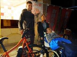 難病ALS患者支援、大陸を自転車で横断 ベルギーの男性が京都入り、人工呼吸器ユーザーらと交流