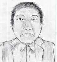 今月3日に琵琶湖で発見された男性の似顔絵=滋賀県警提供