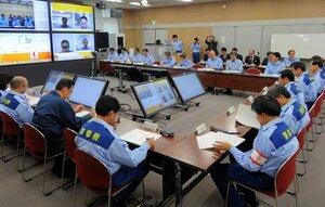 養豚場の消毒の徹底など対策を確認した京都府の豚コレラ警戒本部会議(京都市上京区・府庁)