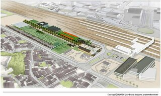 JR米原駅東口の空き地、ホテルや認定こども園誘致へ 市が構想