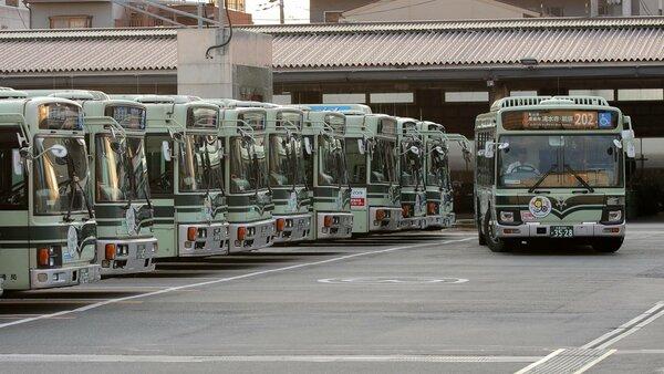 運転手の確保が課題となっている京都市バス(京都市内)